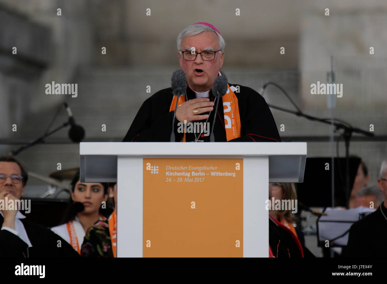 Lovely Berlin, Germany. 24th May 2017. Heiner Koch, The Roman Catholic Archbishop  Of Berlin Addresses The Congregation. Representatives Of Politics And Other  ... Photo Gallery