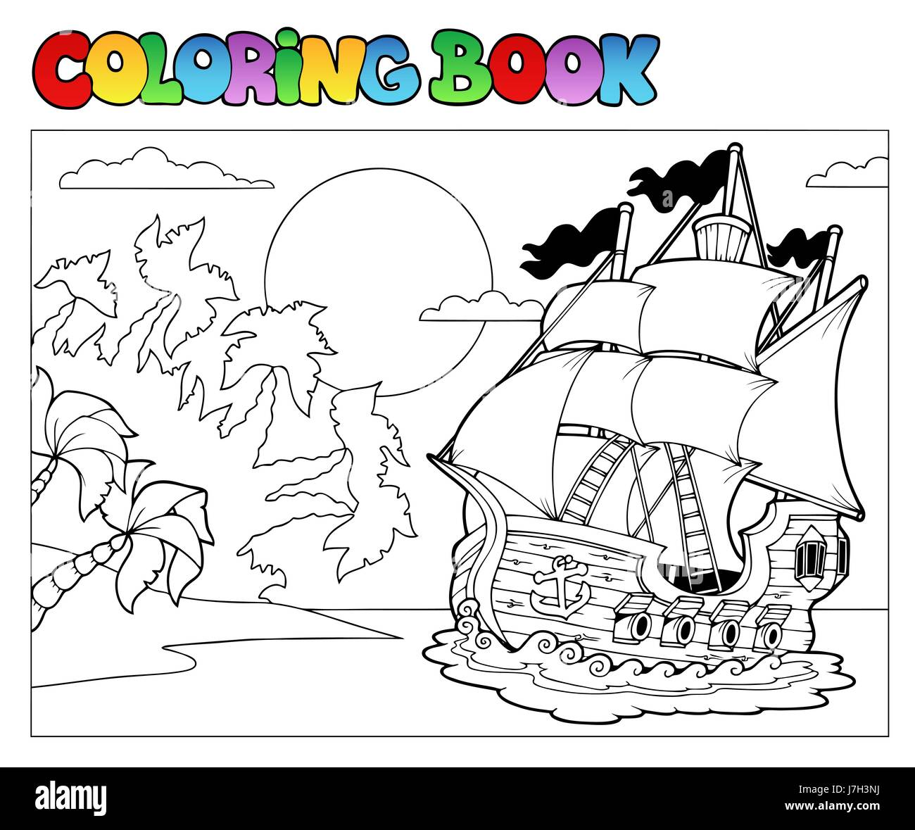 colour vessel paint boat painted ship colouring book rowing boat sailing boat
