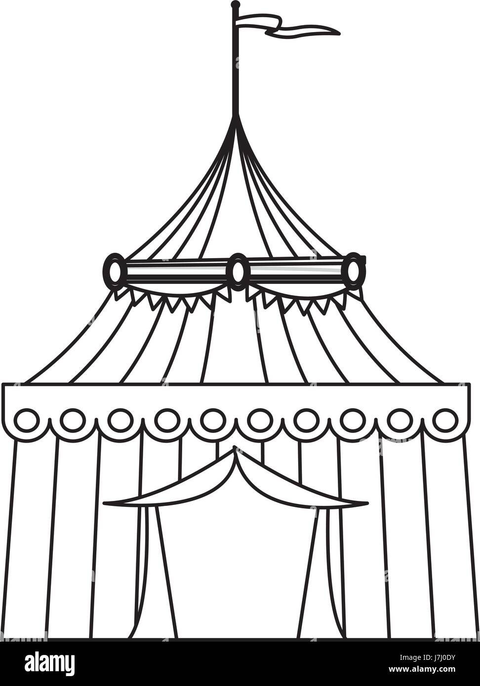 circus tent tops. outline stripes flag on top  sc 1 st  Alamy & circus tent tops. outline stripes flag on top Stock Vector Art ...