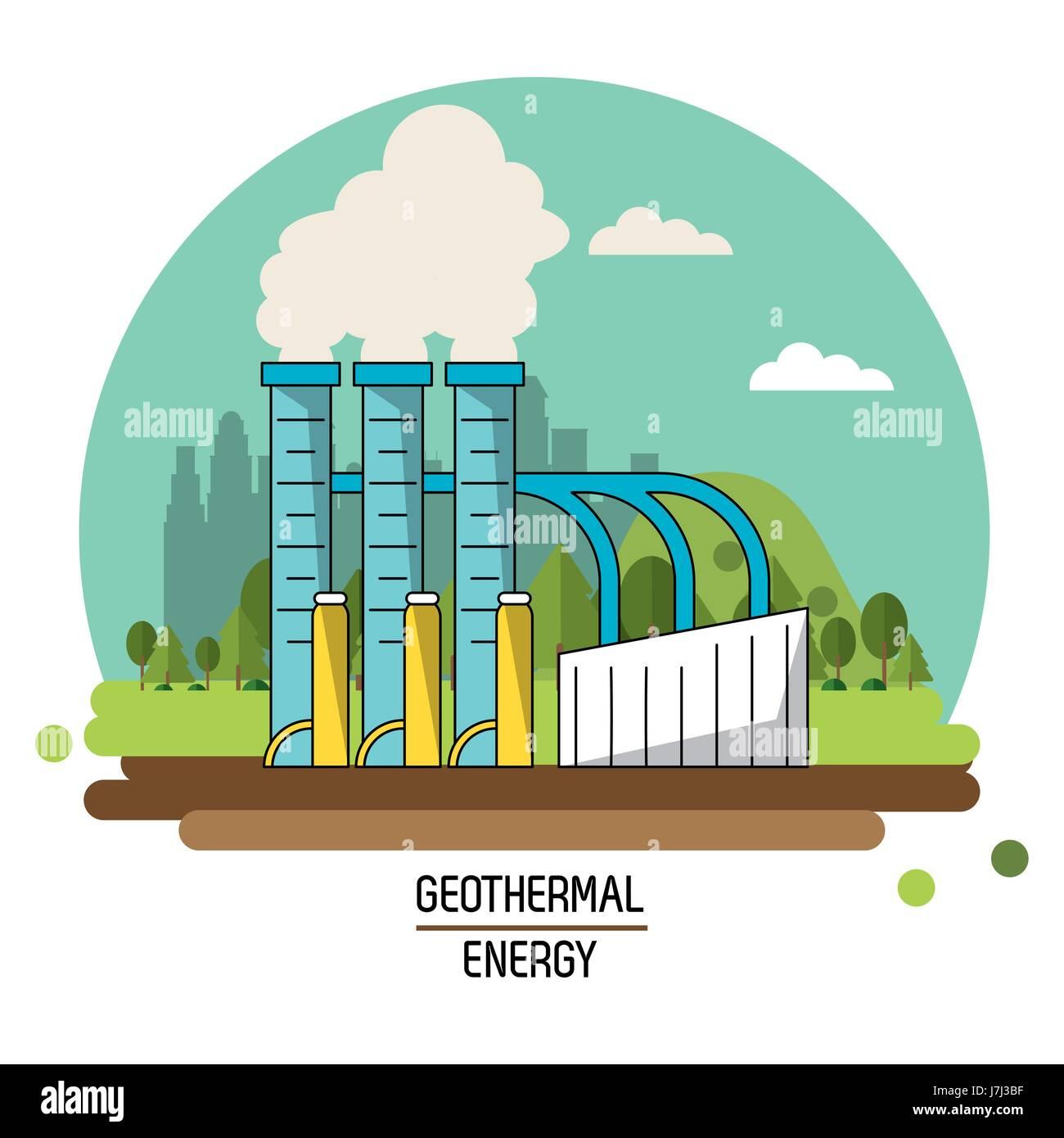 Color landscape image geothermal energy production plant stock color landscape image geothermal energy production plant pooptronica