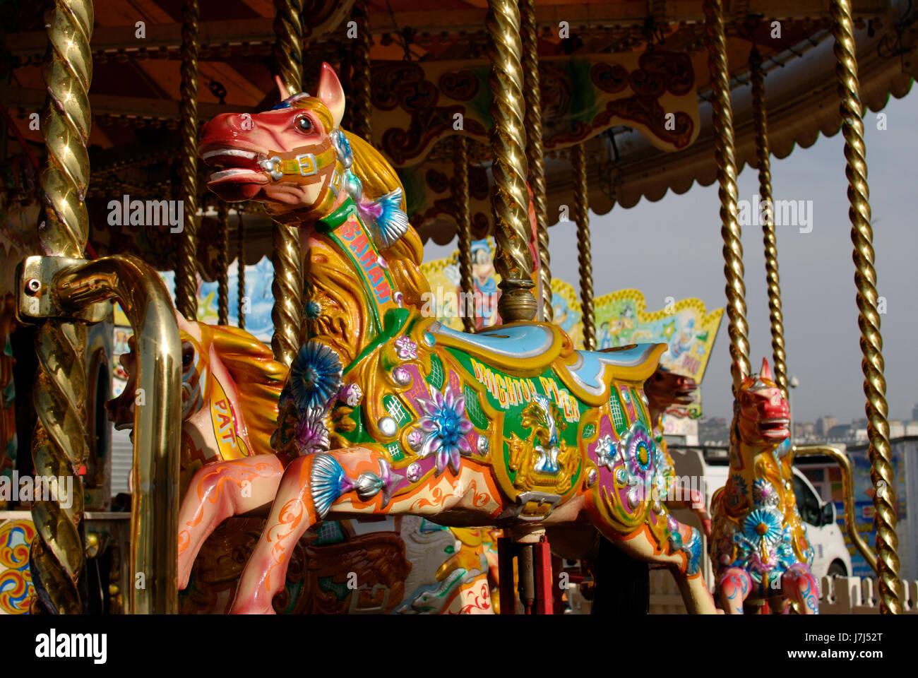 ride horse england fairground carousel roundabout entertainment ...