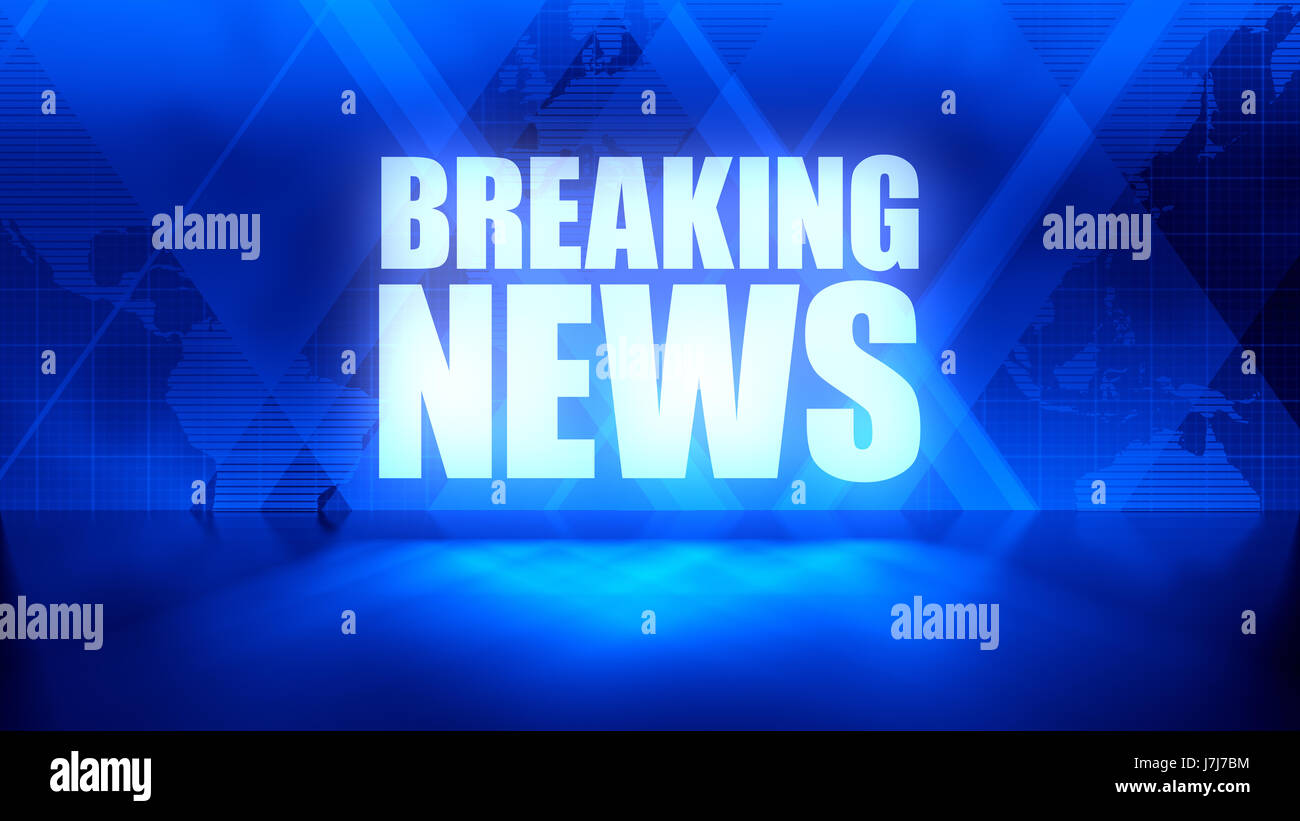 Breaking news background in blue rectangles and world map stock breaking news background in blue rectangles and world map overlapping with reflective floor gumiabroncs Image collections