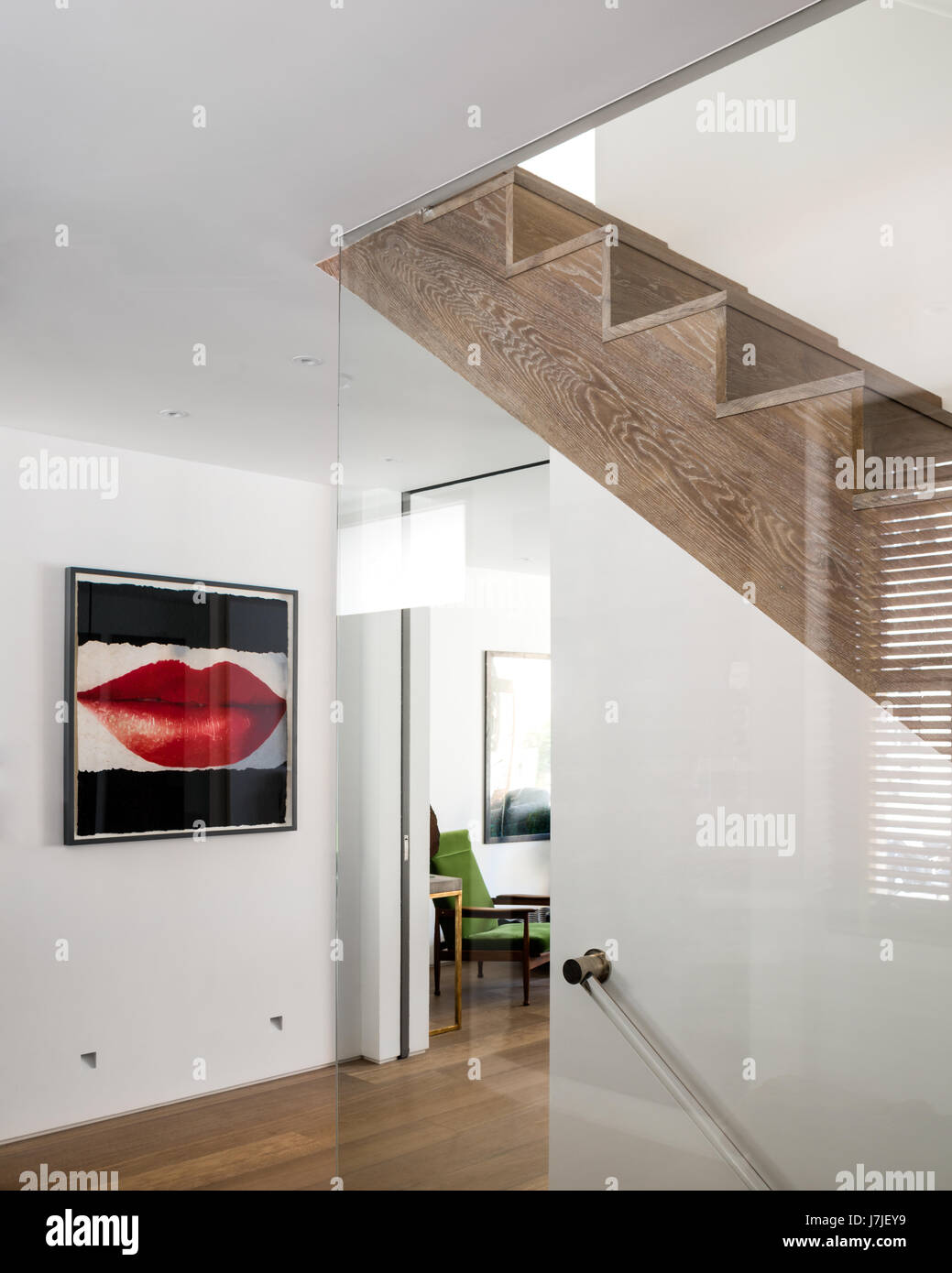 Large Lip Print By Daniel Kelly In Entrance Hall With