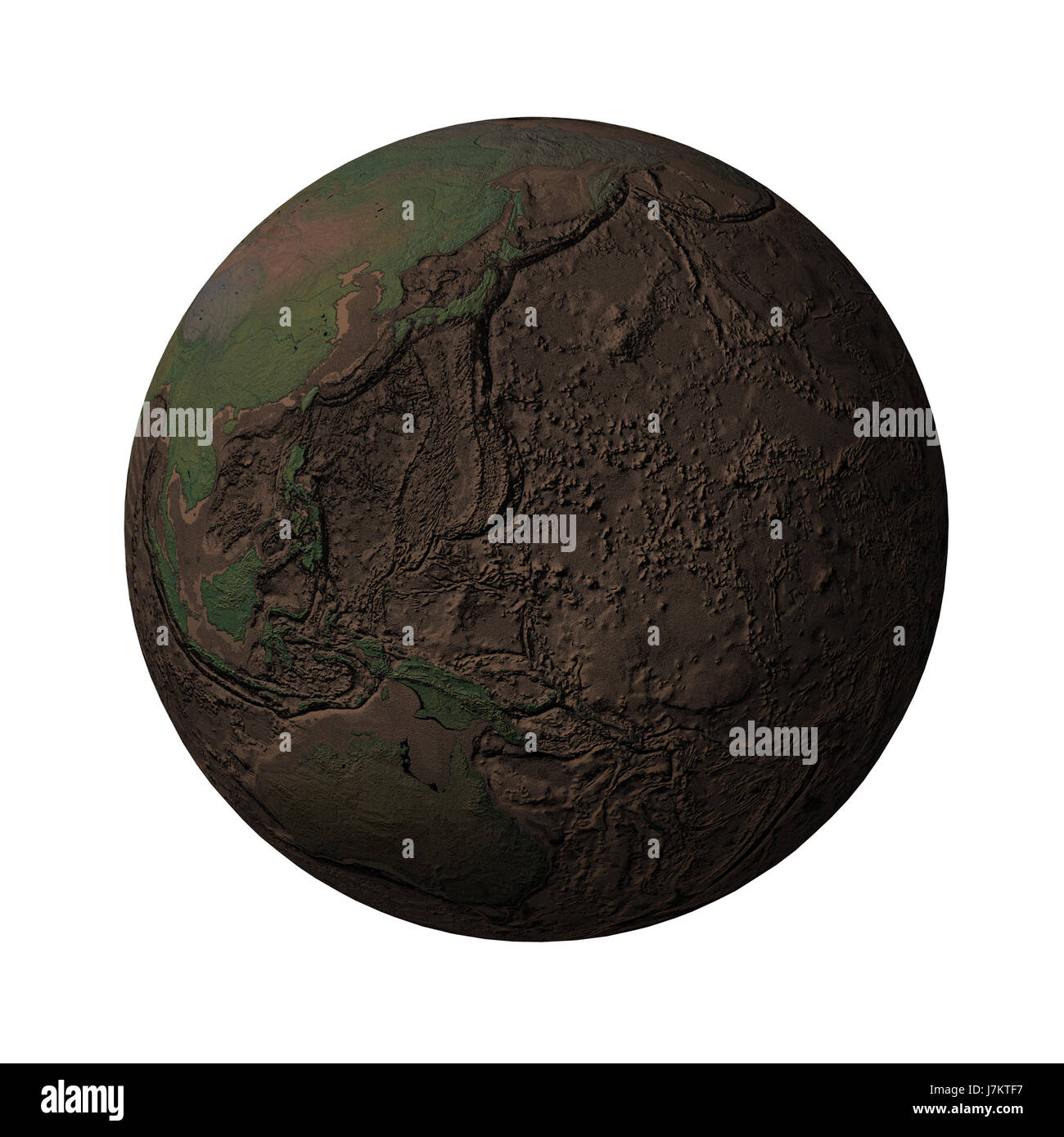 Earth without water and plantspacific stock photo royalty free earth without water and plantspacific ccuart Choice Image