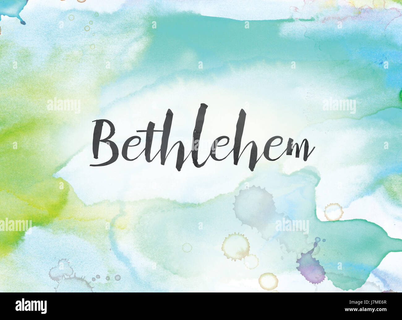 The word Bethlehem concept and theme written in black ink on a ...