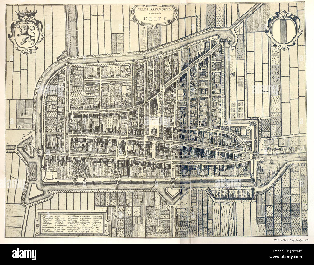 Delft map willem blaeu Stock Photo Royalty Free Image 142490235
