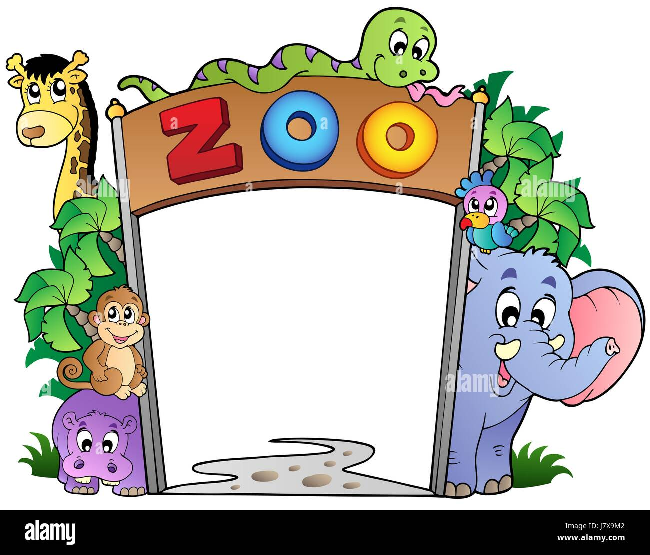 Foyer Entry Zoo : Garden entrance zoo enter entry zoological way board leaf