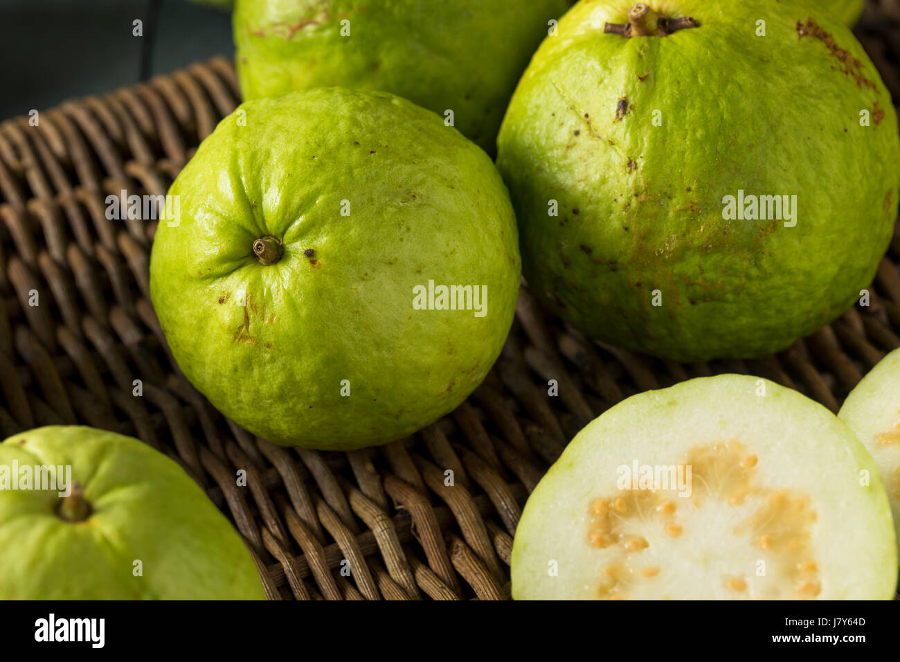 Raw organic green large guava ready to eat stock photo royalty raw organic green large guava ready to eat ccuart Gallery