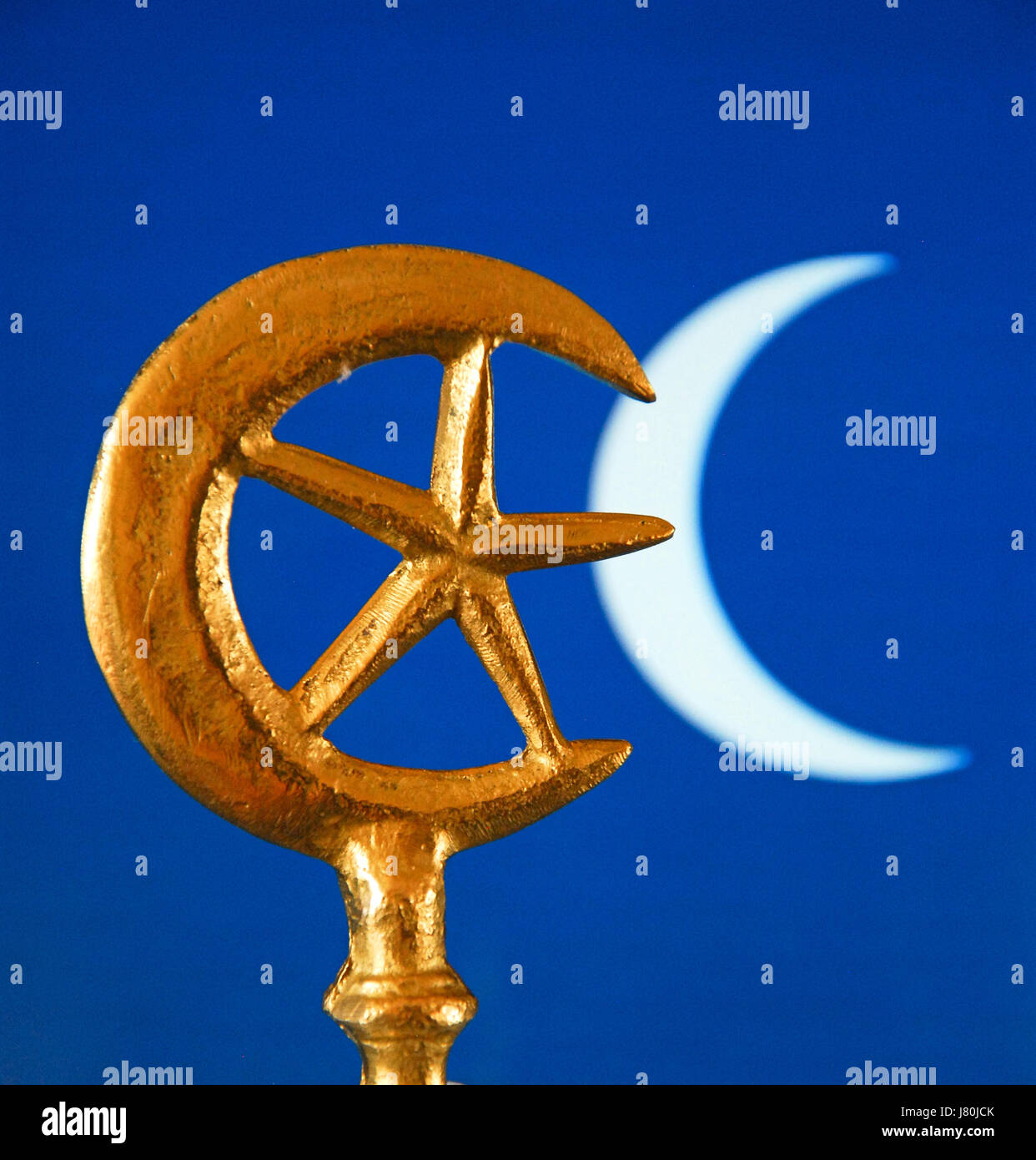 The crescent moon and star which became connected with islam in the crescent moon and star which became connected with islam in the mid c20th the rich blue colour is often used in tiles to decorate mosques biocorpaavc