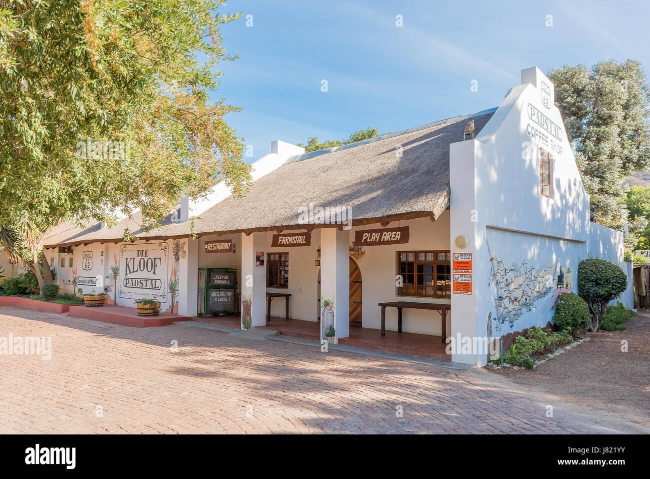 montagu, south africa - march 26, 2017: a farm stall and