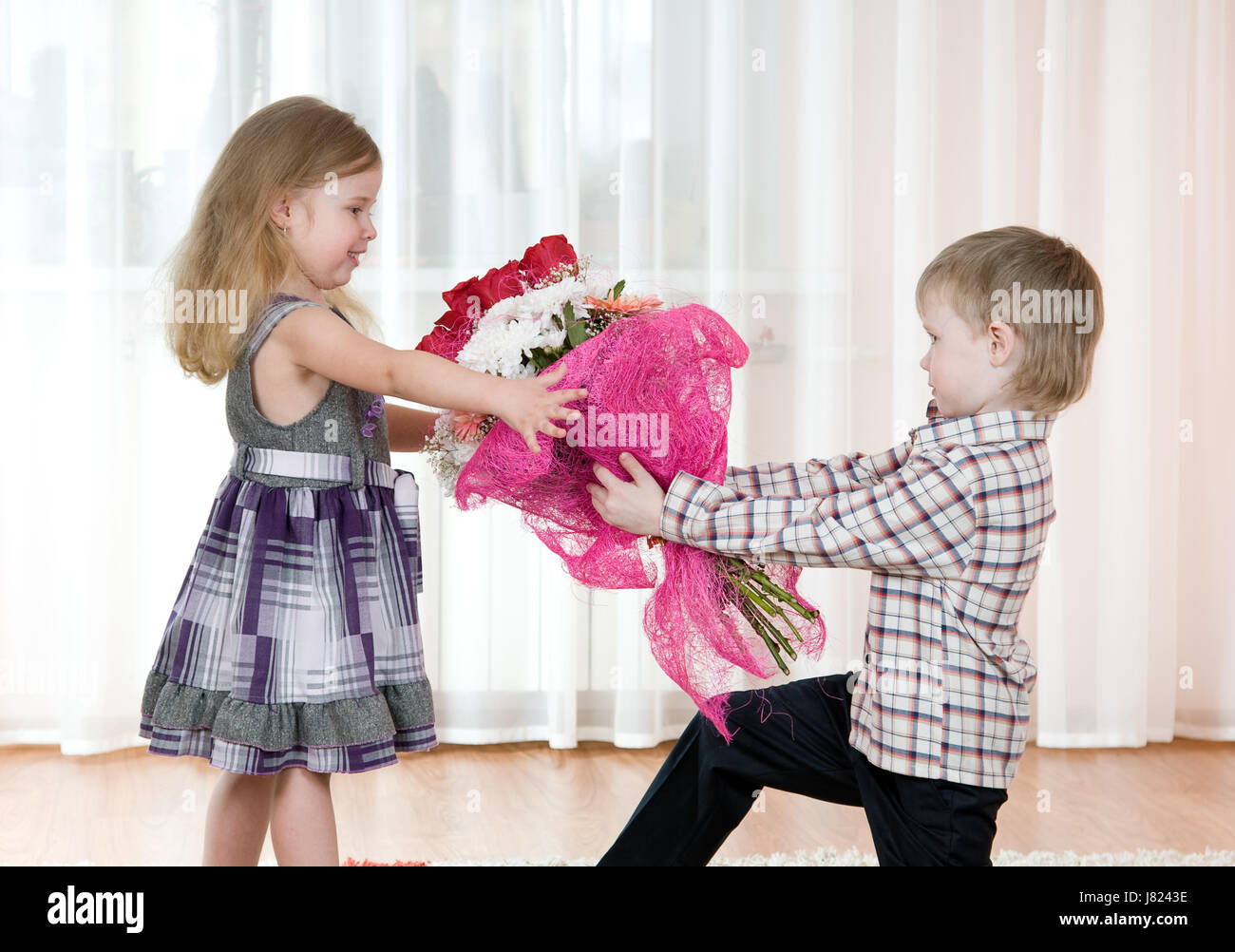 youngster girls Stock Photo - flower plant rose bouquet bunch boy lad male youngster girl  girls child