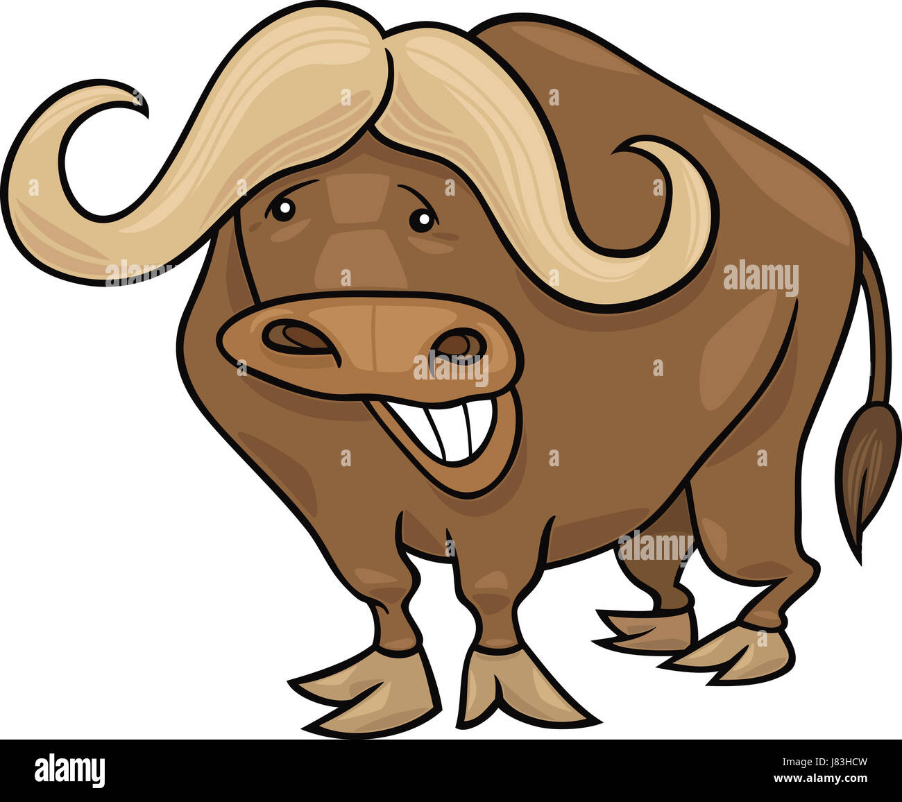 animal africa bull horn illustration buffalo cartoon laugh ... - photo#46