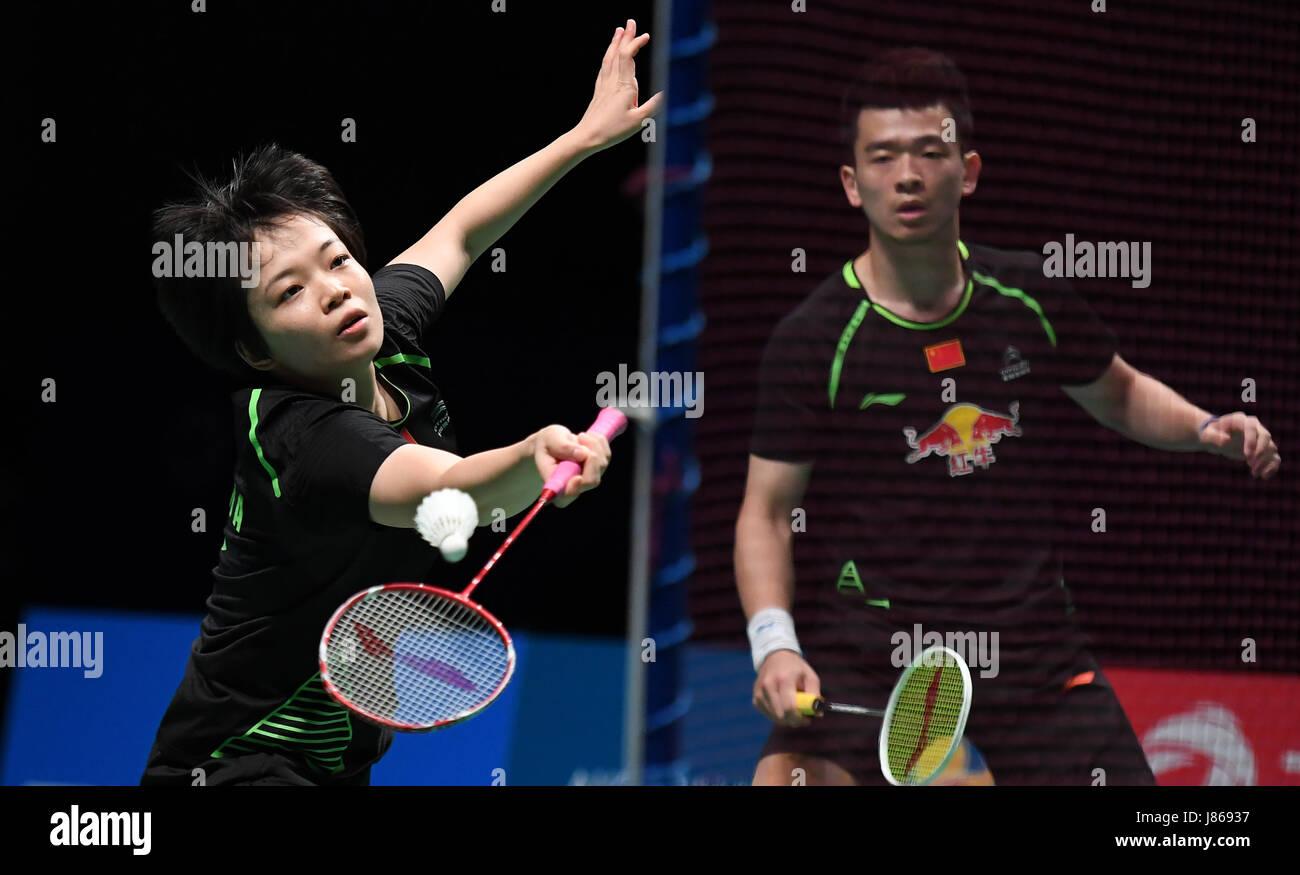 Gold Coast Australia 27th May 2017 China s Chen Qingchen L