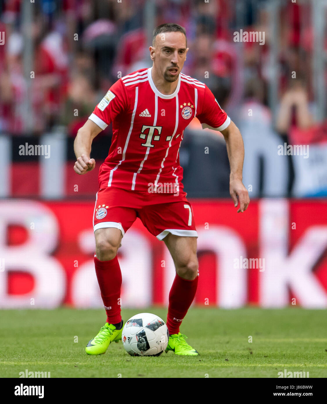 Munich s player Franck Ribery during the German Bundesliga soccer