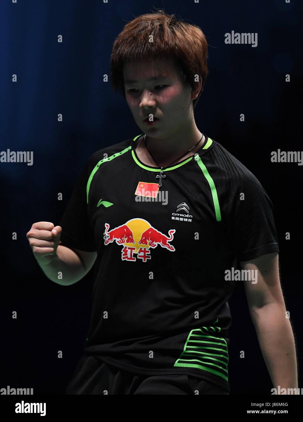 Gold Coast Australia 28th May 2017 China s He Bingjiao