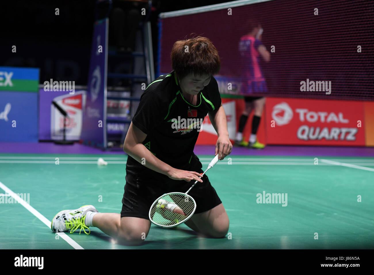 Gold Coast Australia 28th May 2017 China s He Bingjiao knees