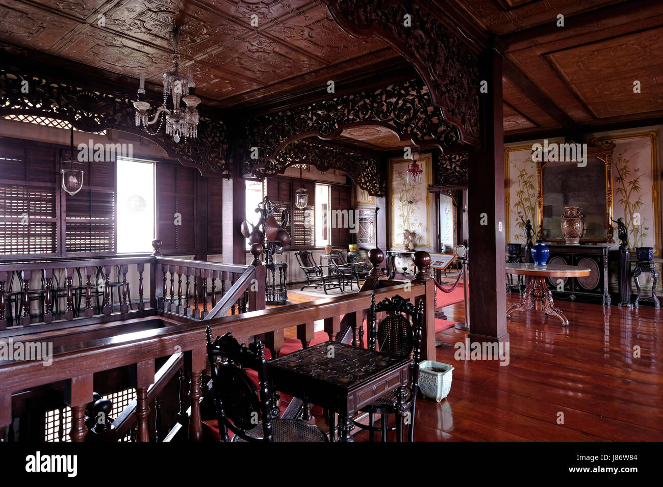 Interior Of Casa Manila Containing Late 19th Century And Early 20th Furniture Found In
