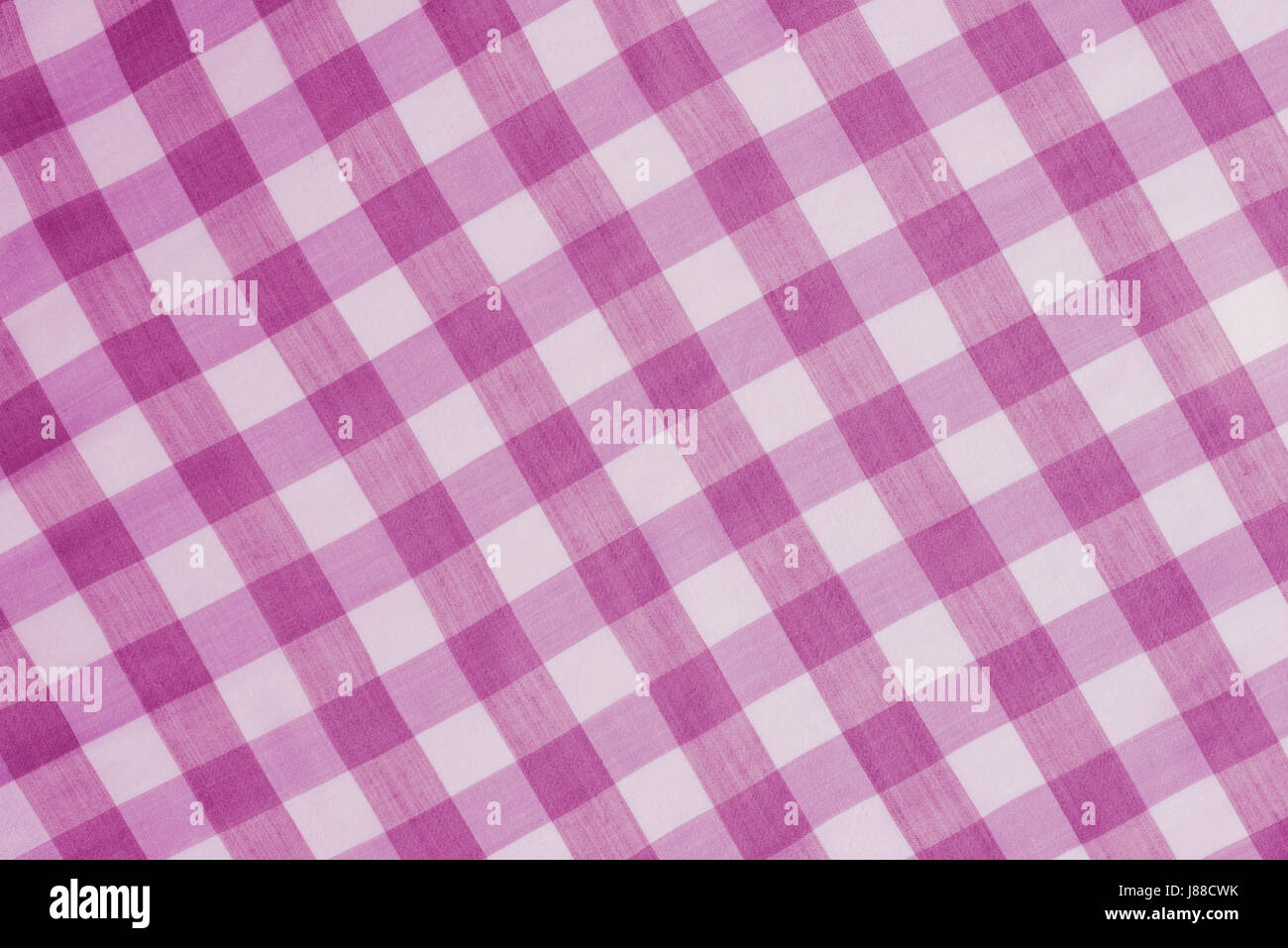 Stock Photo   Pink Checkered Tablecloth Background Texture