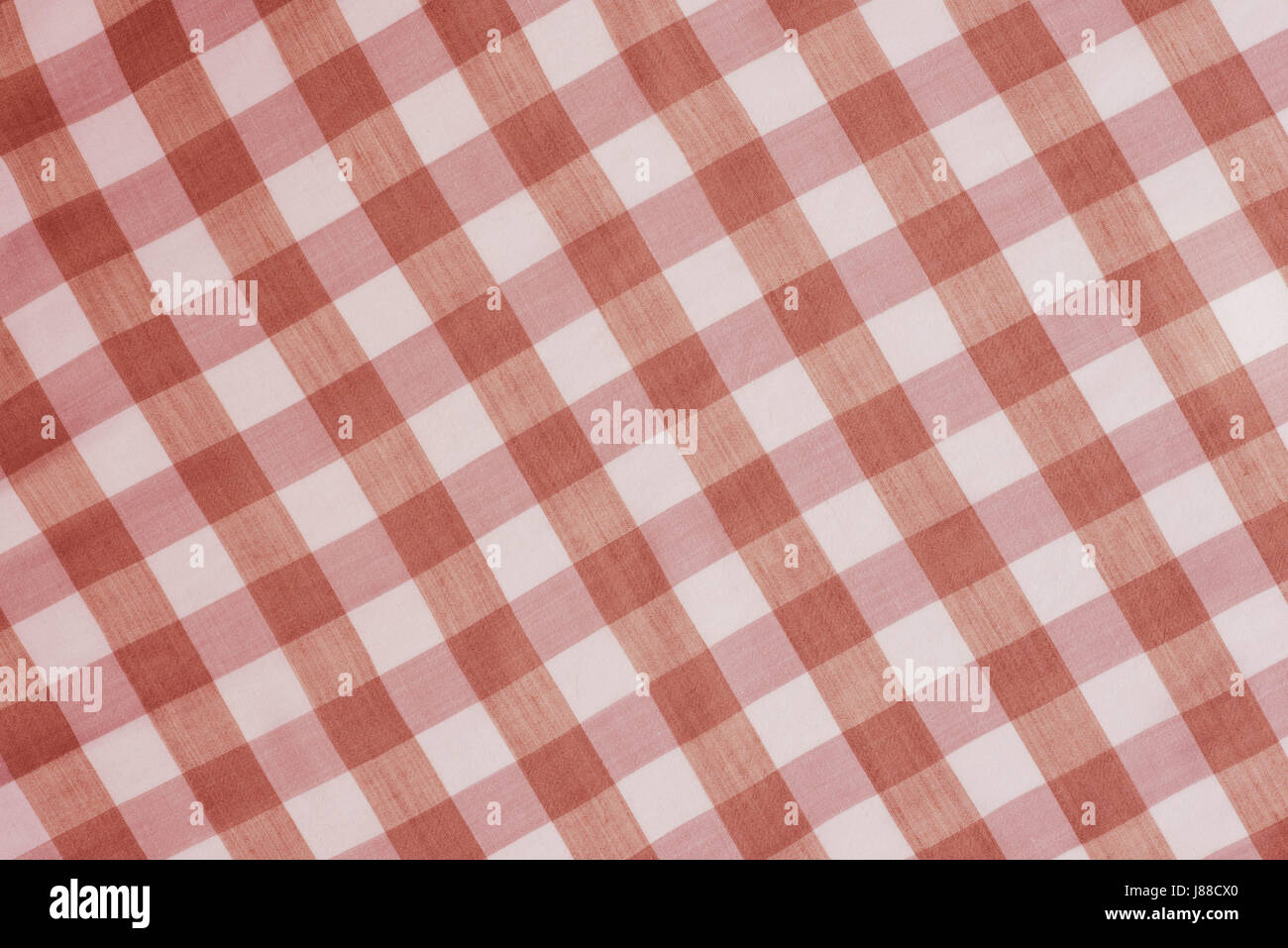 Stock Photo   Red Checkered Tablecloth Background Texture
