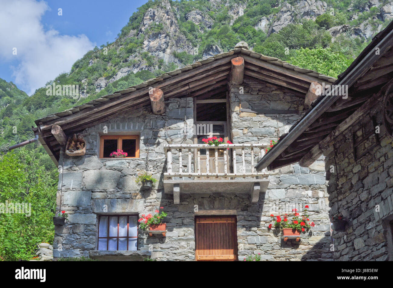 house building houses alps typical italian called mountain