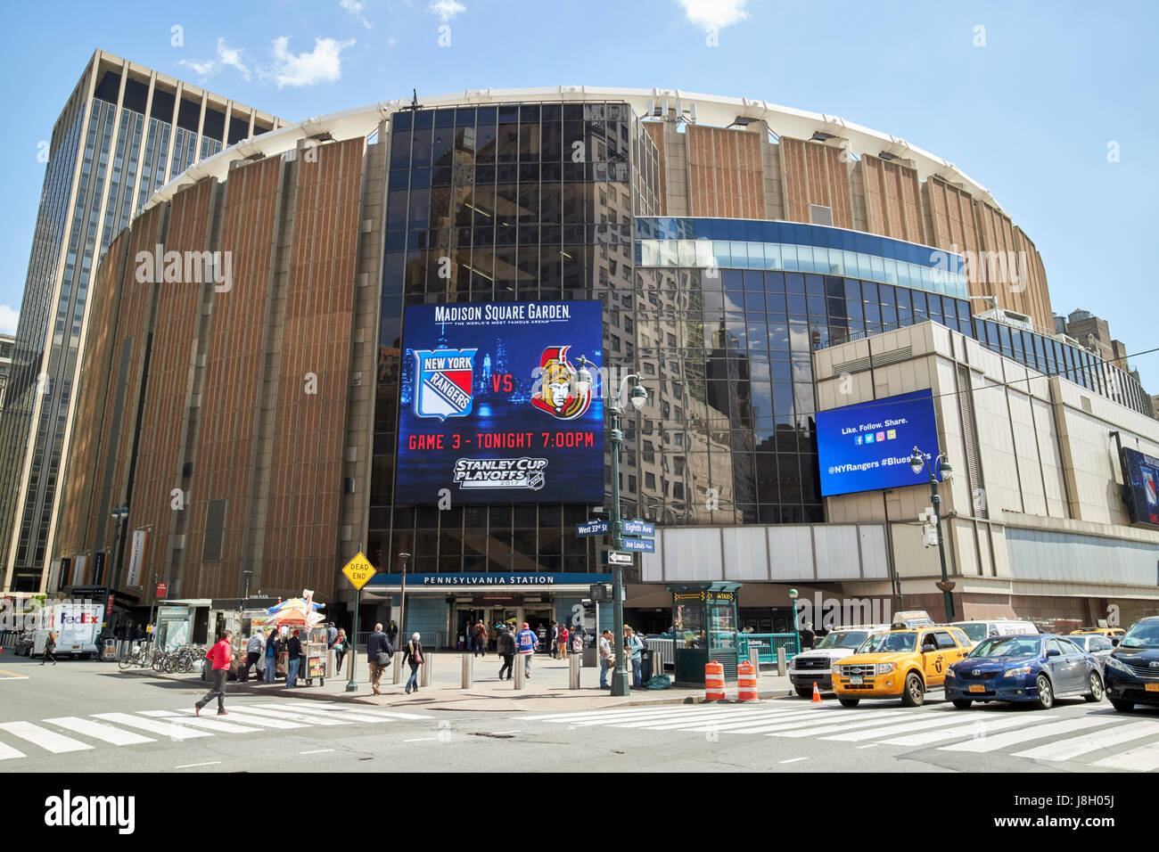 Entrance To Pennsylvania Station And Madison Square Garden New York Stock Photo Royalty Free