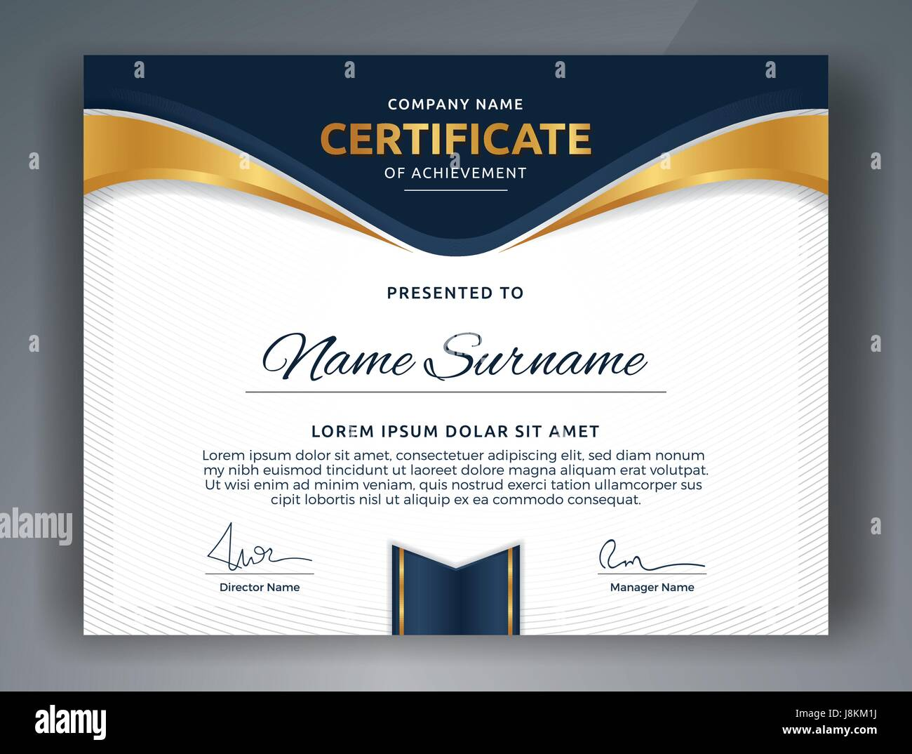 Multipurpose professional certificate template design for print multipurpose professional certificate template design for print vector illustration yadclub Images