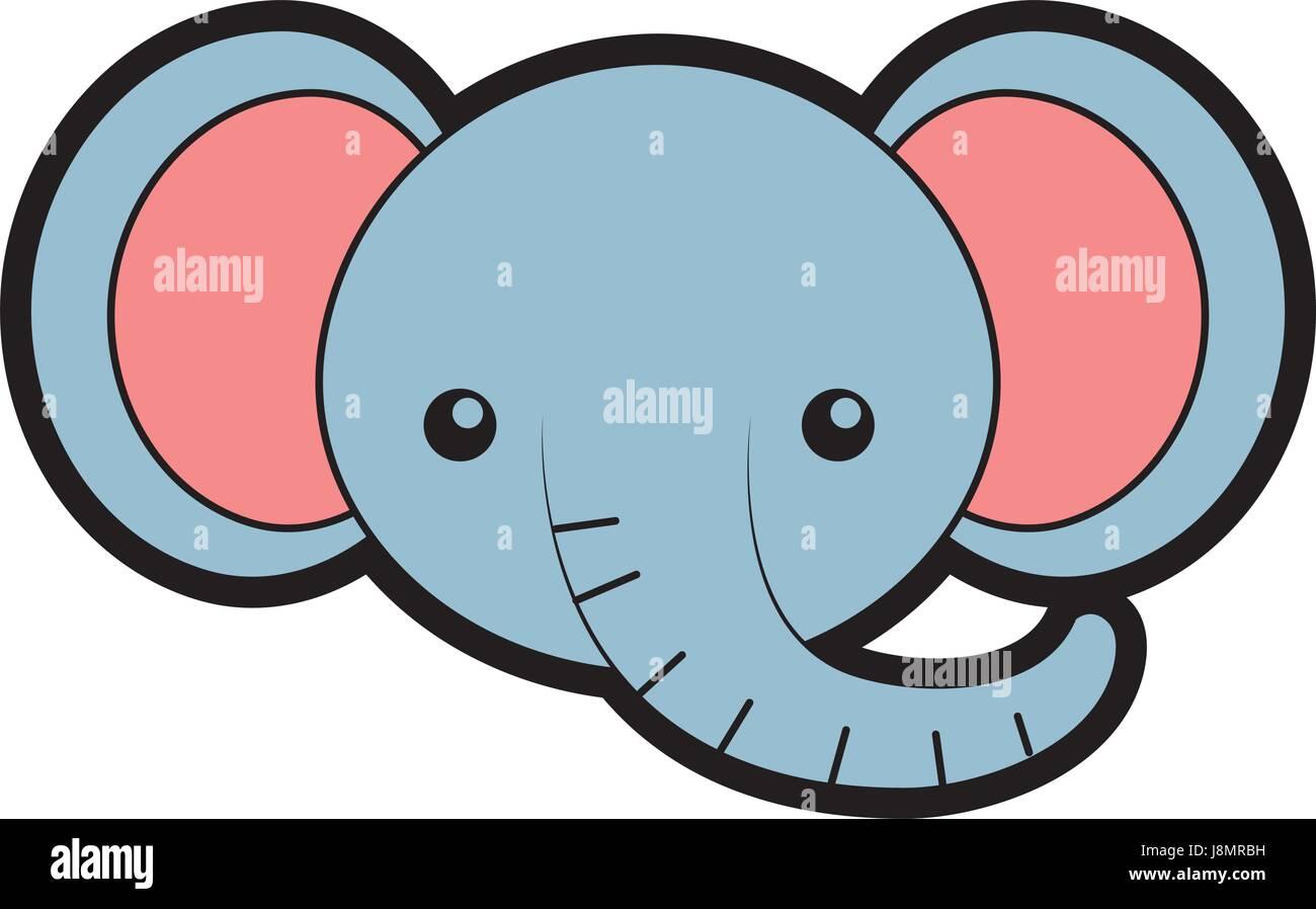 cute elephant face cartoon stock vector art u0026 illustration vector