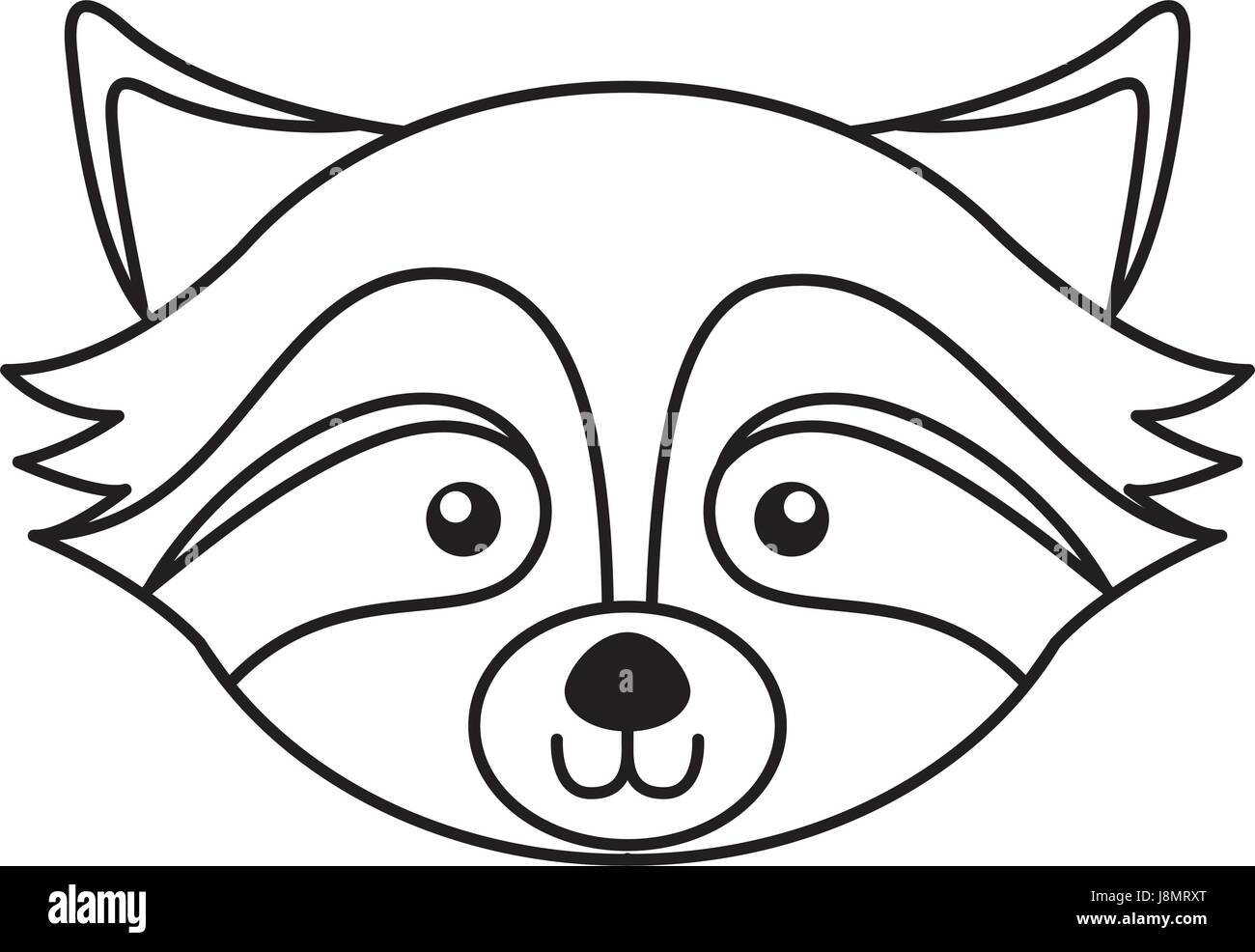 cute raccoon face cartoon Stock Vector Art & Illustration ... Raccoon Face Coloring Pages