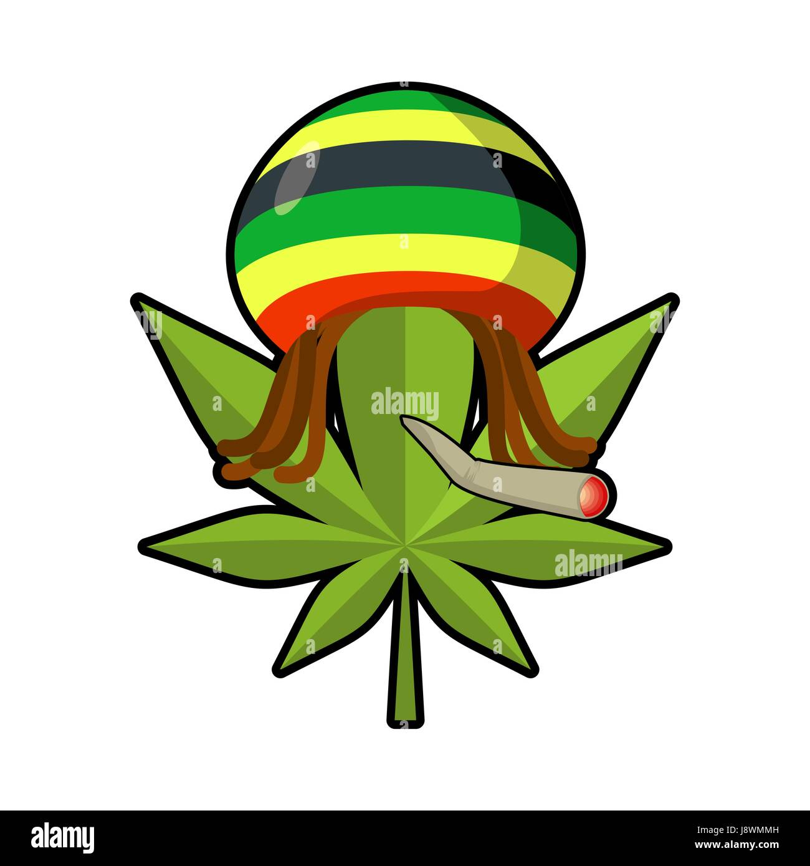 Rastafari sign stock photos rastafari sign stock images alamy leaf marijuana and reggae cap with dreadlocks green leaf cannabis smoking joint or spliff biocorpaavc Image collections