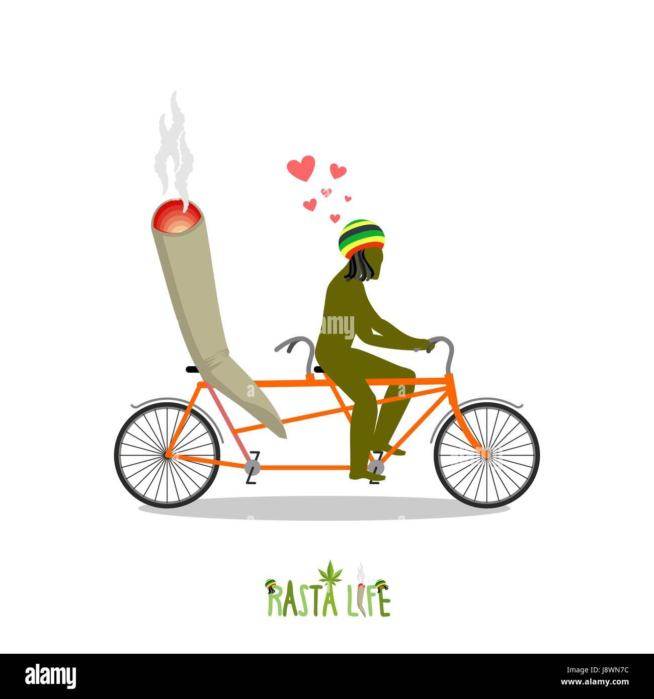Rastafari sign stock photos rastafari sign stock images alamy rasta life rastafarian and joint or spliff on bicycle man and smoking drug on biocorpaavc Image collections