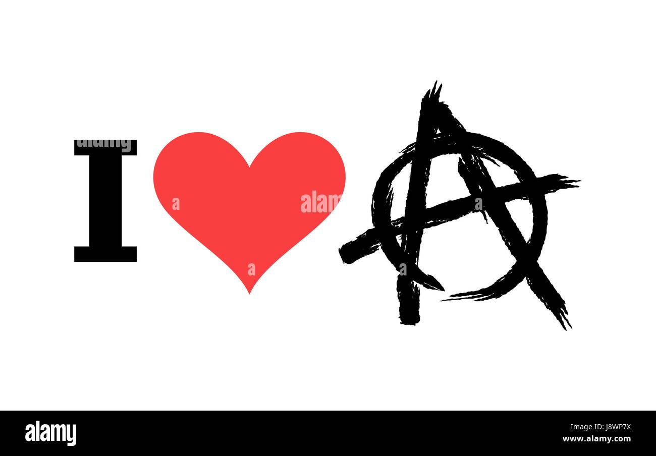 I love anarchy symbol of disorder and chaos emblem of symbol of disorder and chaos emblem of arbitrariness and lack of state power antisocial logo for hooligans and punks biocorpaavc Image collections