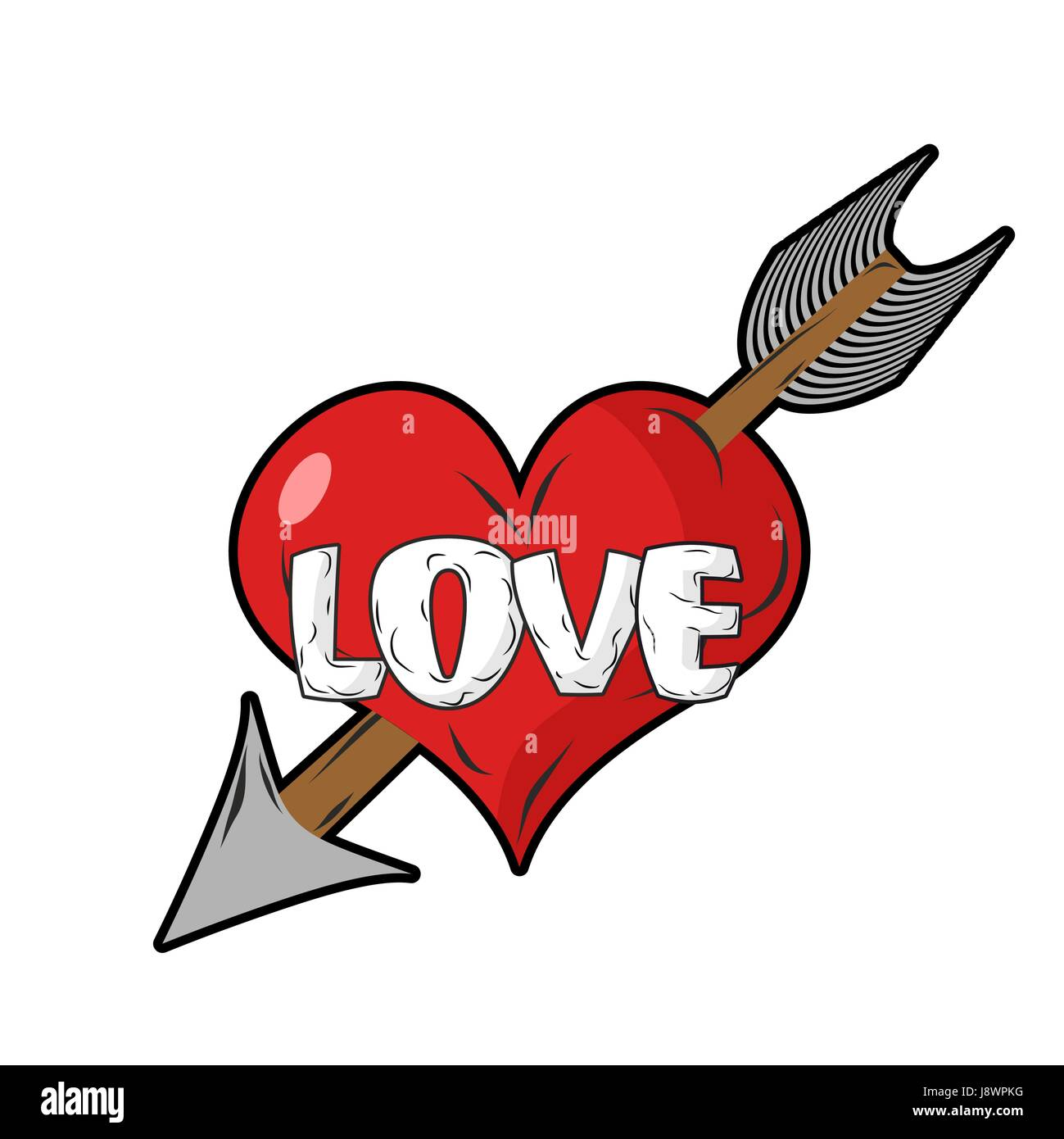 Red heart and arrow of cupid emblem for everlasting love sign of emblem for everlasting love sign of love logo for valentines day biocorpaavc