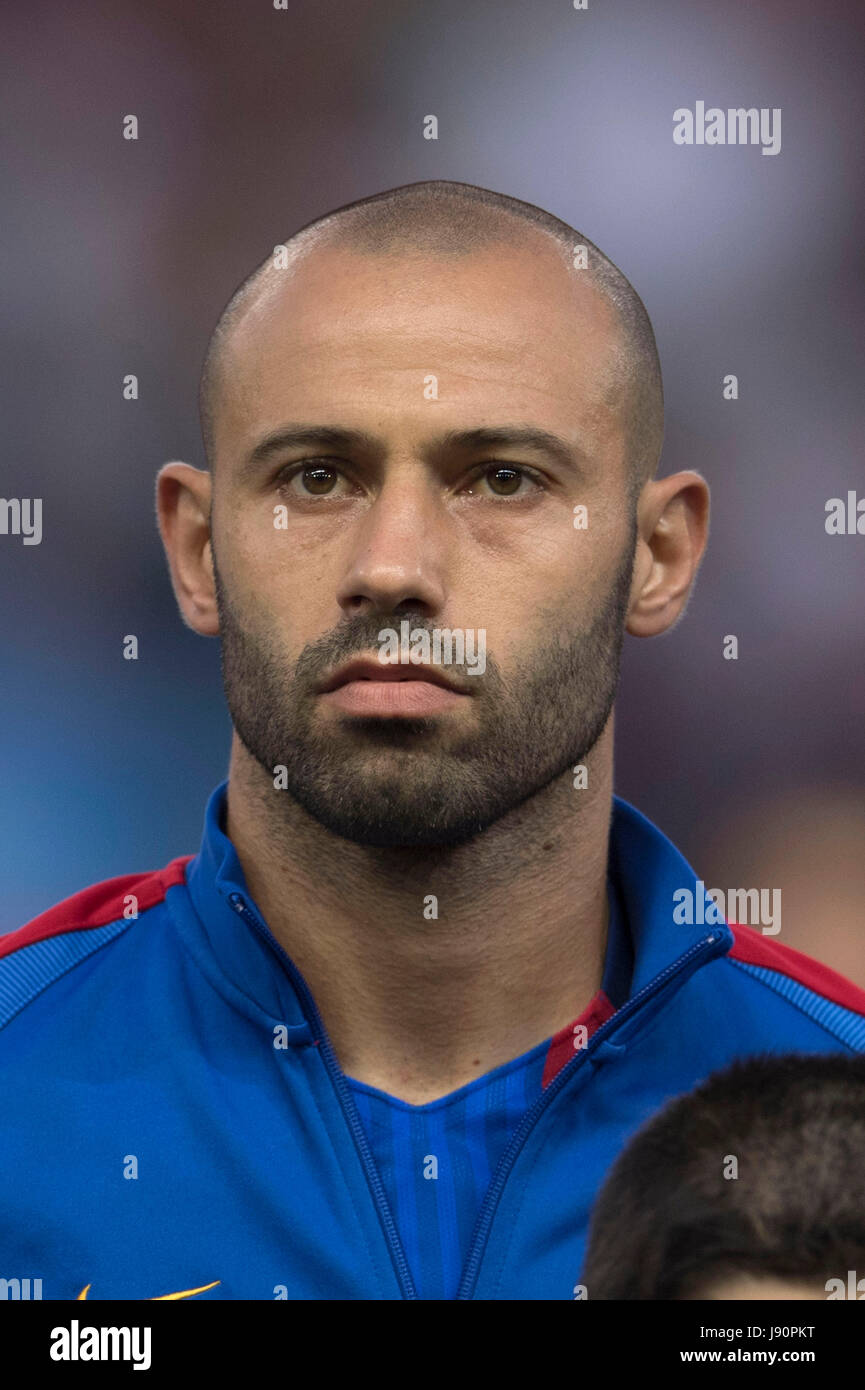 Javier Mascherano Barcelona MAY 27 2017 Football Soccer