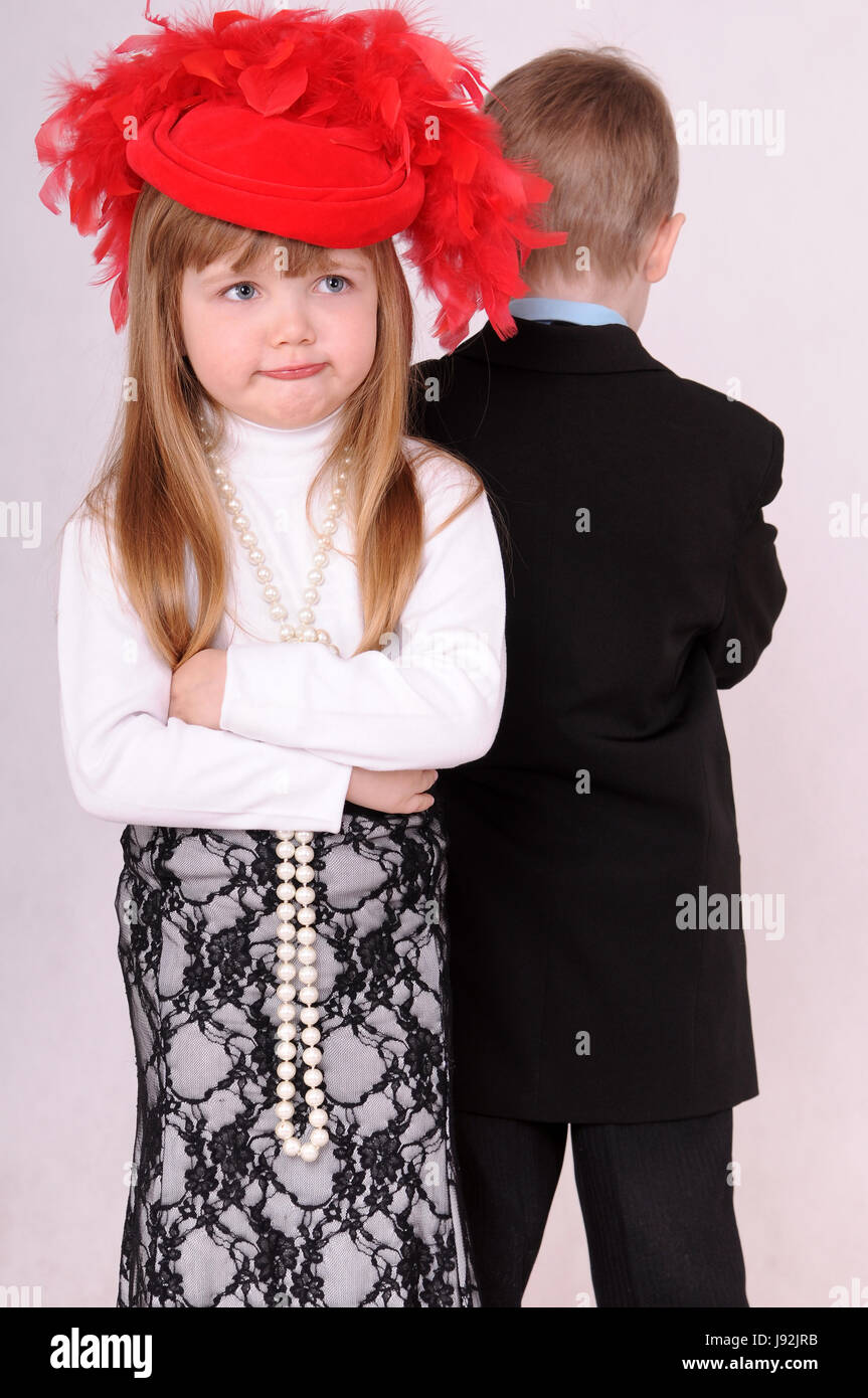 youngster girls Stock Photo - lady, hat, upset, boy, lad, male youngster, child, girl, girls,  children, kids