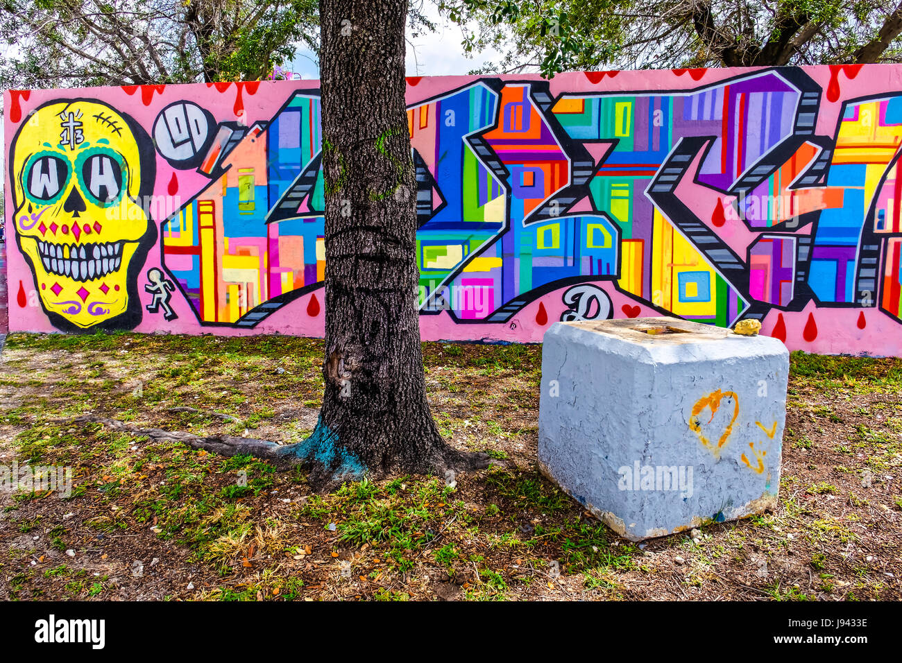 Graffiti wall usa - Graffiti Wall Wynwood Art District Miami Florida Usa