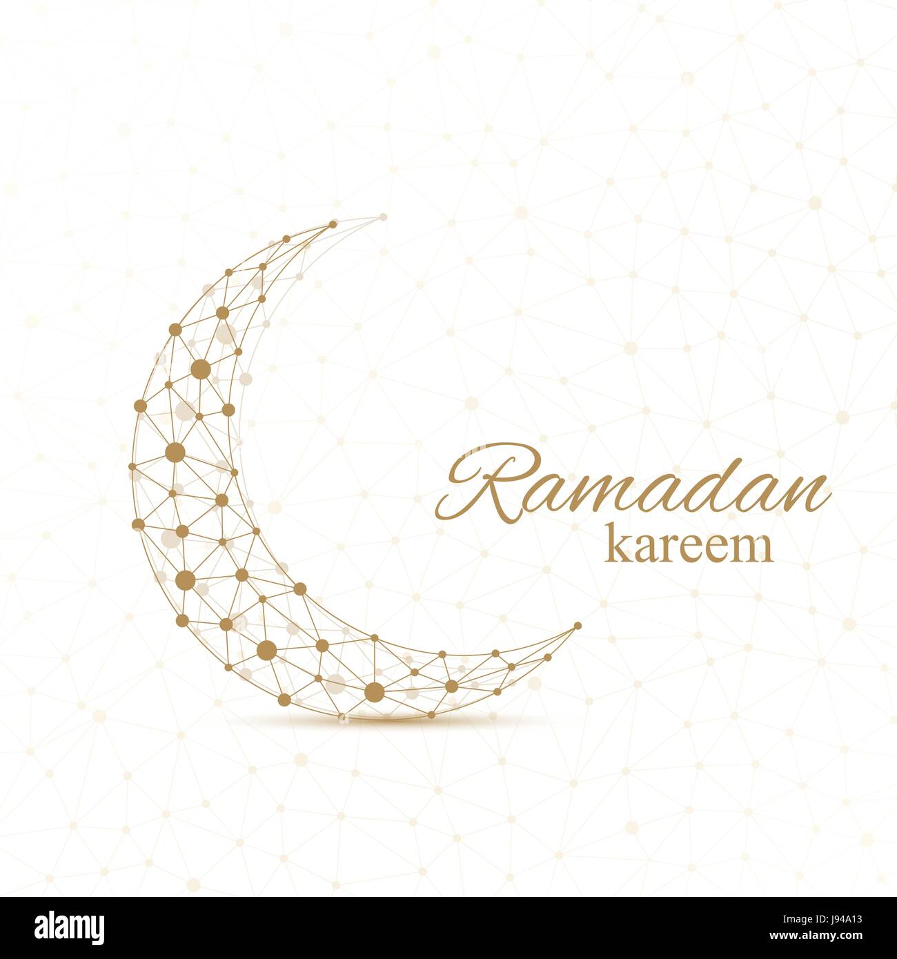 Ramadan greetings background luxury gold solutions design golden ramadan greetings background luxury gold solutions design golden moon made from connected line and dots ramadan kareem vector illustration kristyandbryce Image collections