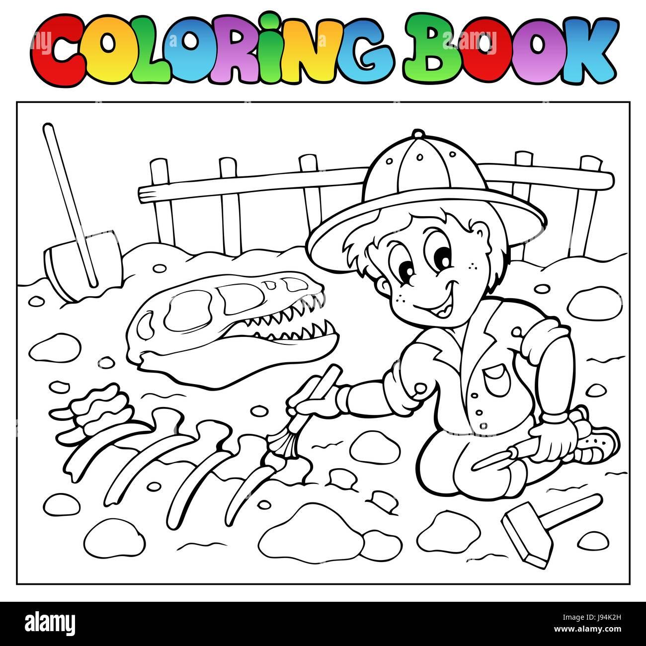 Colour book art - Stock Photo Colour Excavation Paint Painted Excavate Colouring Excavator Book Art