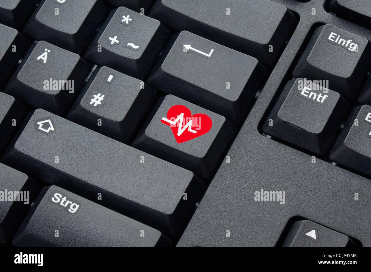 Heart shaped keyboard symbol images symbols and meanings arrhythmia stock photos arrhythmia stock images alamy illustration the heart rhythm symbol on the key of buycottarizona Choice Image