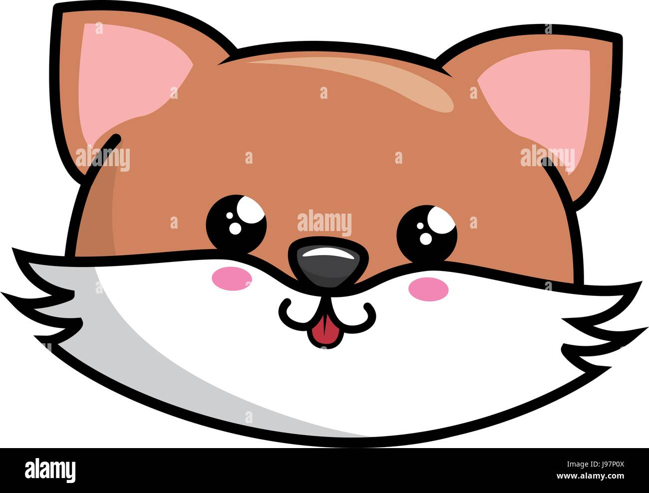 Uncategorized Kawaii Fox kawaii fox icon stock vector art illustration image icon