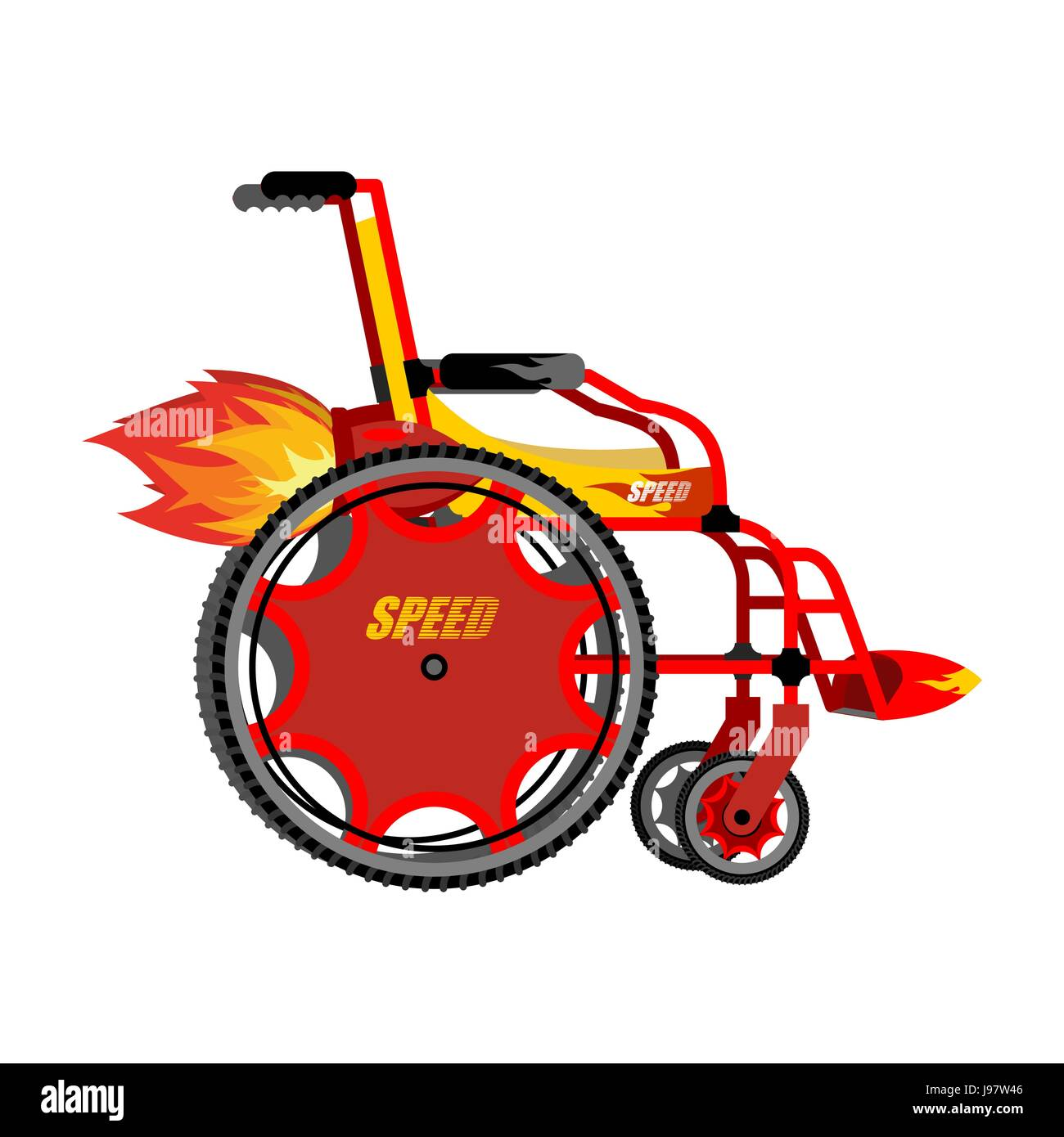 High-speed wheelchair. Chair for disabled with Turbo acceleration ...