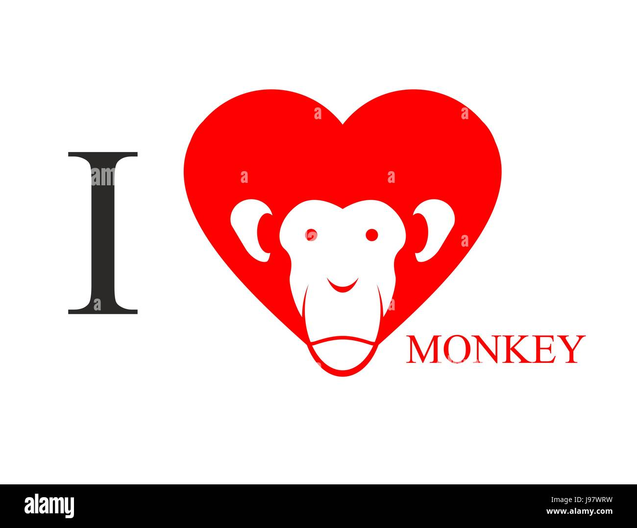 I love monkey heart symbol in form of head monkey chinese new heart symbol in form of head monkey chinese new year exhibit east traditional animal buycottarizona