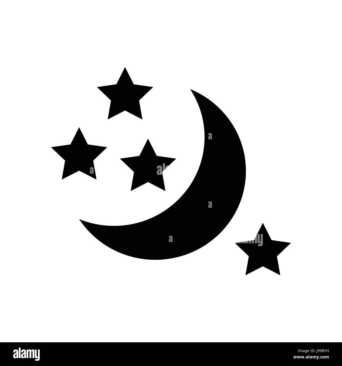 Half moon and stars icon simple style stock vector art half moon and stars icon simple style biocorpaavc