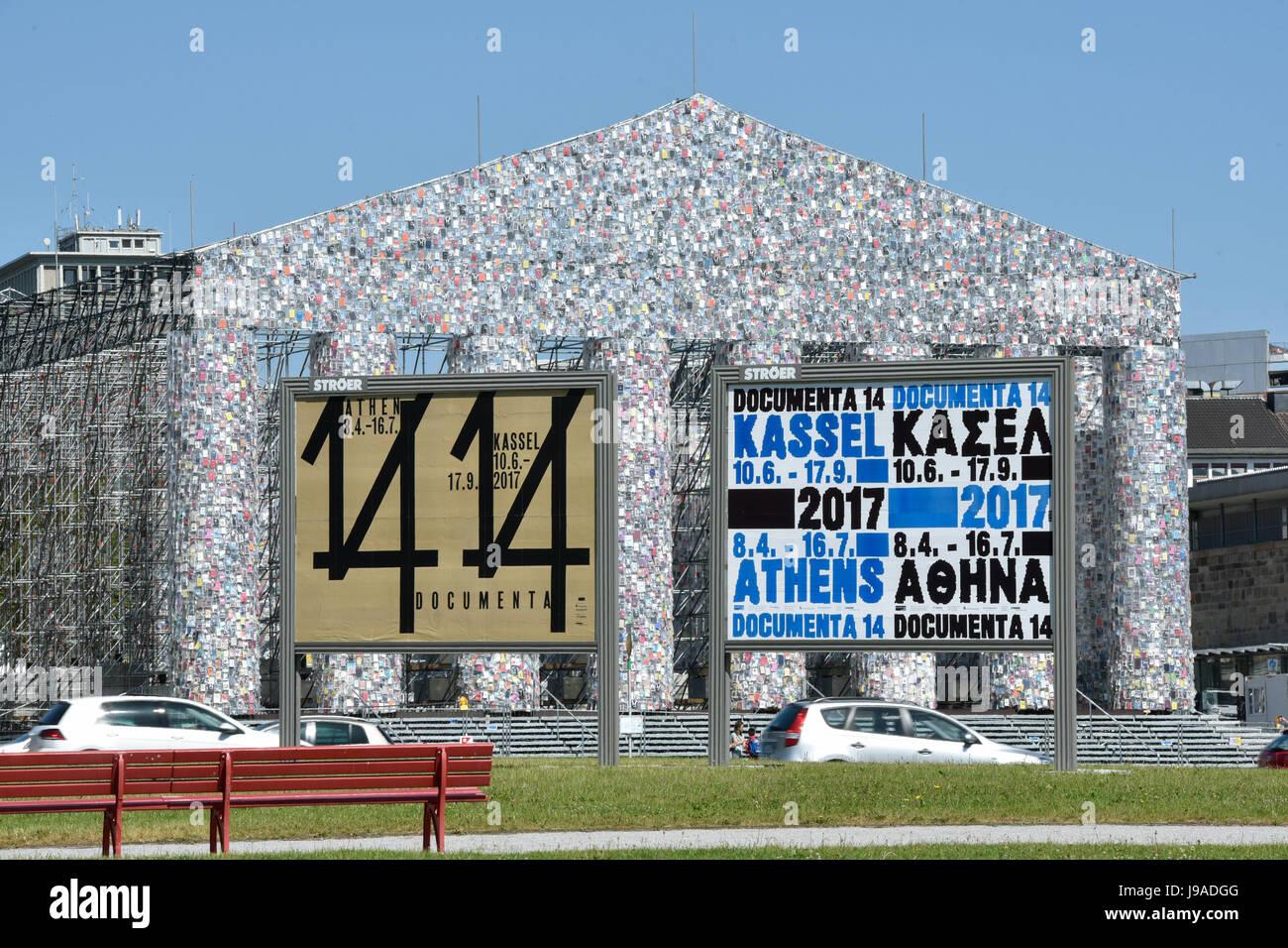 Kassel germany 1st june 2017 documenta signs in front for Documenta kassel 2017
