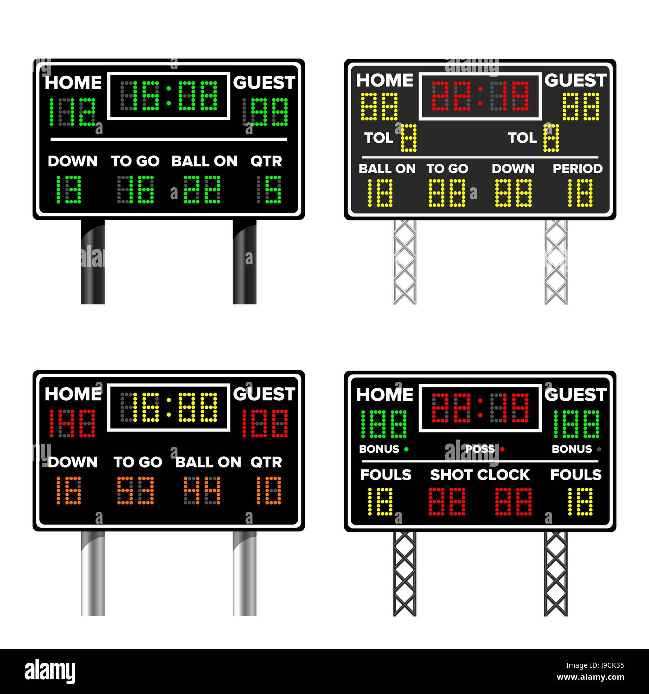 scoreboard wall clock instructions