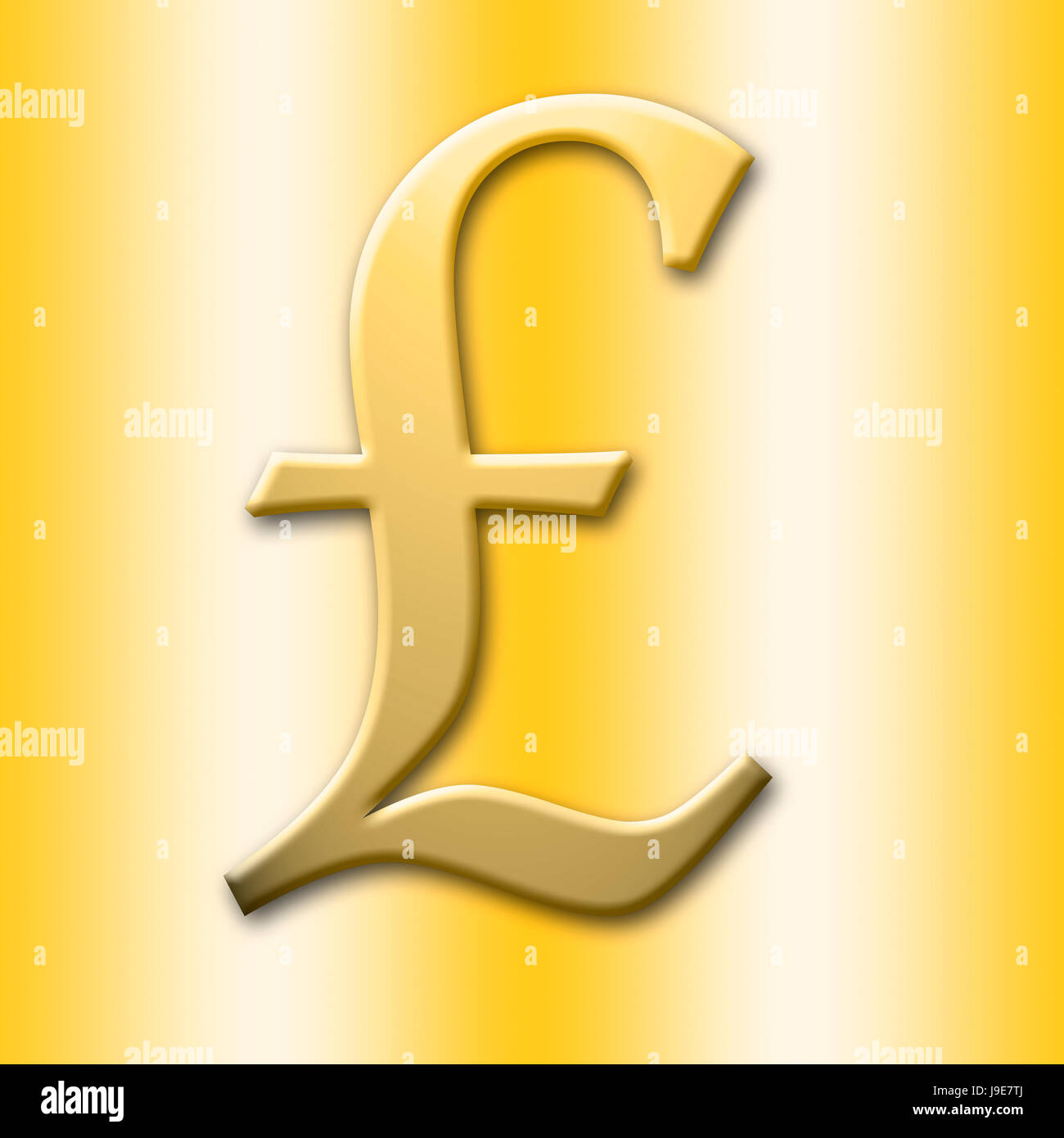 Golden british pound currency sign isolated against the golden golden british pound currency sign isolated against the golden background biocorpaavc Images