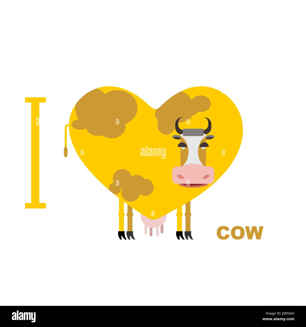 I love cow symbol heart of cows vector illustration for lovers i love cow symbol heart of cows vector illustration for lovers of farm animals buycottarizona