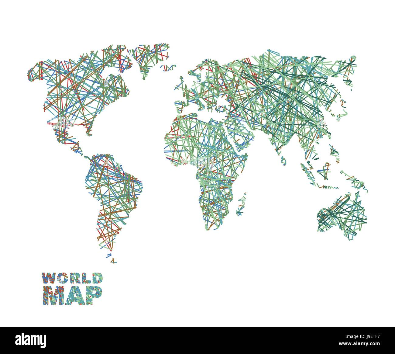 World map colored lines global internet network connects matter world map colored lines global internet network connects matter of planet earth business concept global connectivity and communication geography d gumiabroncs Choice Image