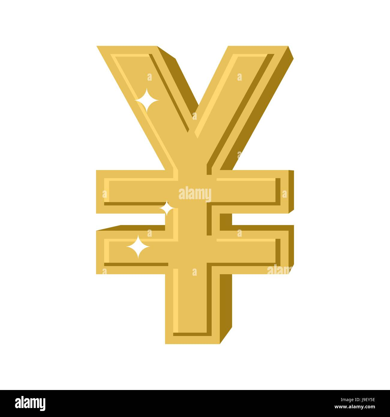 Golden chinese yen symbol of money in china cash sign in china symbol of money in china cash sign in china from yellow precious metal financial illustration biocorpaavc