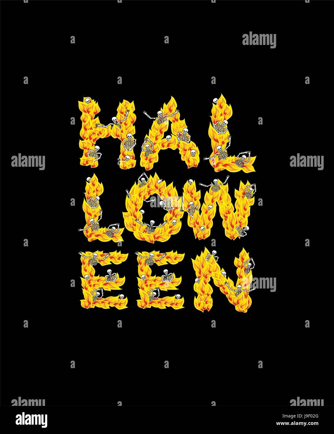 Fire halloween letters skeletons in hell sinners in inferno fire halloween letters skeletons in hell sinners in inferno satanic symbol hellish thick biocorpaavc