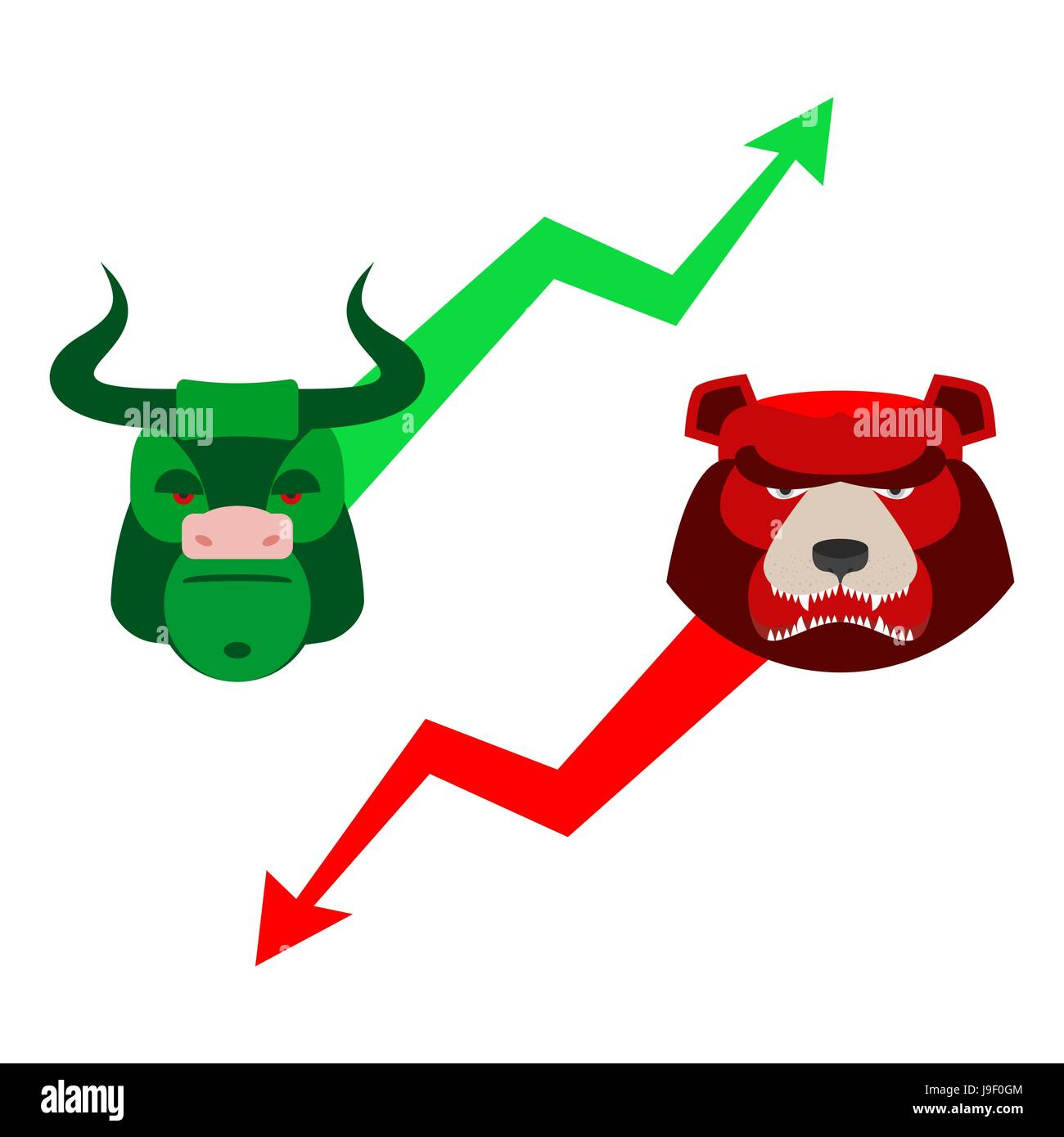 Stock market bear icon vector stock photos stock market bear green red bull and bear traders at stock exchange business allegory fall and buycottarizona